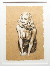 Tegning indrammet: Anna Nicole Smith