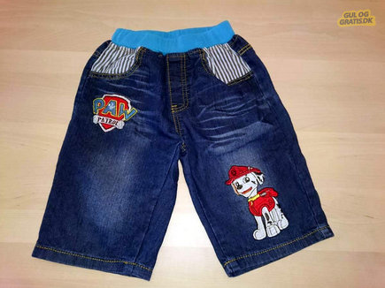 Paw Patrol denim jeans shorts str 110, billede 1