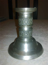 Pewter norsk tin lysestage