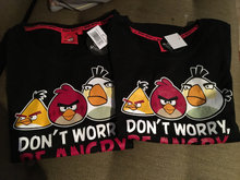 Angry birds t-shirt.