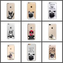 Silikone cover hund til iPhone 6 6s 7 8