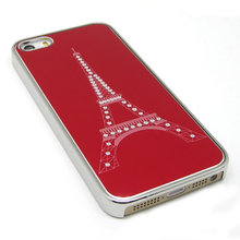 KAMPAGNE VARE, iPhone 5G/5s/SE The Steel Tower Tube drawing Cover Case - rød
