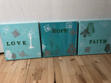 Love, Hope, Faith malerier