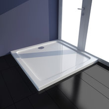 141449 Square ABS Shower Base Tray White 80 x 80 cm - Untranslated