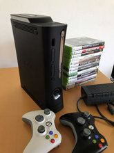 Xbox 360, 120gb, inkl. 14 spil + 2 contr