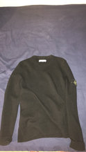 Stone Island Crew neck sort uld Str M