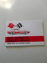Corvette 1972 owner's manual