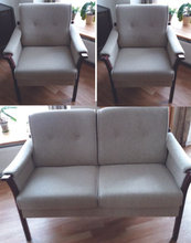 2 personers sofa med to stole