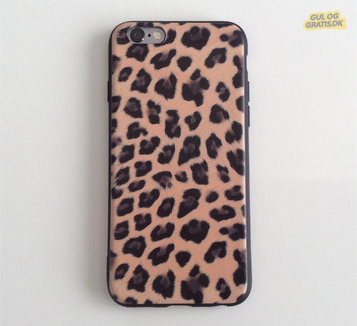 Leopard silikone cover iPhone 6 6s 7 8 X, billede 1