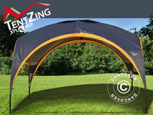 Campingpavillon, TentZing®, 3,5x3,5m, Orange/Mørke