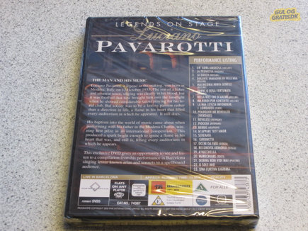 DVD Luciano Pavarotti - Legend on Stage, billede 1