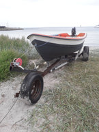Jolle, 14 fod, 4 pers., 5 hk , Evinrude,