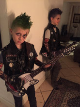Punk-rocker kostume str 7-12 år