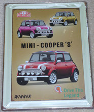 Metalskilt Mini Coopers