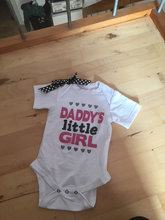 """baby med tryk """"Daddy´s little girl"""""""
