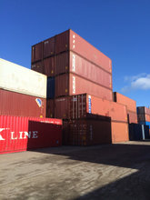 40' container, Brugte 40 fods co...