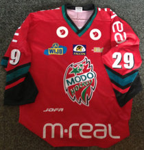 KIM STAAL Game used MODO jersey autograf