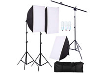 Profesionelt Lighting Kit, GRATIS Tripod