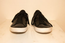 Lacoste sneakers i sort skind