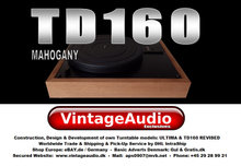 THORENS TD160 REVISED: Mahogany Upgrade