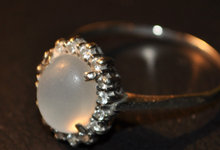 Diamant ring stor nok 1/2 pris