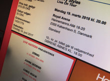 2 stks, Harry Styles - Live on Tour