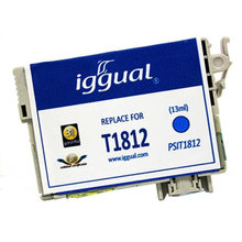 Recycled Ink Cartridge iggual Epson PSIT181240 Cyan