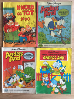 15 tegneseriealbum,Tintin, Anders And mm, billede 1