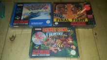Donkey kong country. Final fight Snes