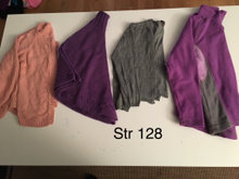 Cardigan, poncho og fleece. Str 128
