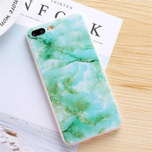 Grøn marmor cover iPhone 5 5s SE 6 6s