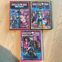 3 Monster High dvd tegnefilm
