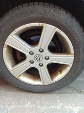 VW 16 Tommer Alu 5*112 Continental 205